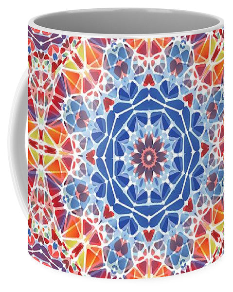 Blue And Orange Kaleidoscope - Mug