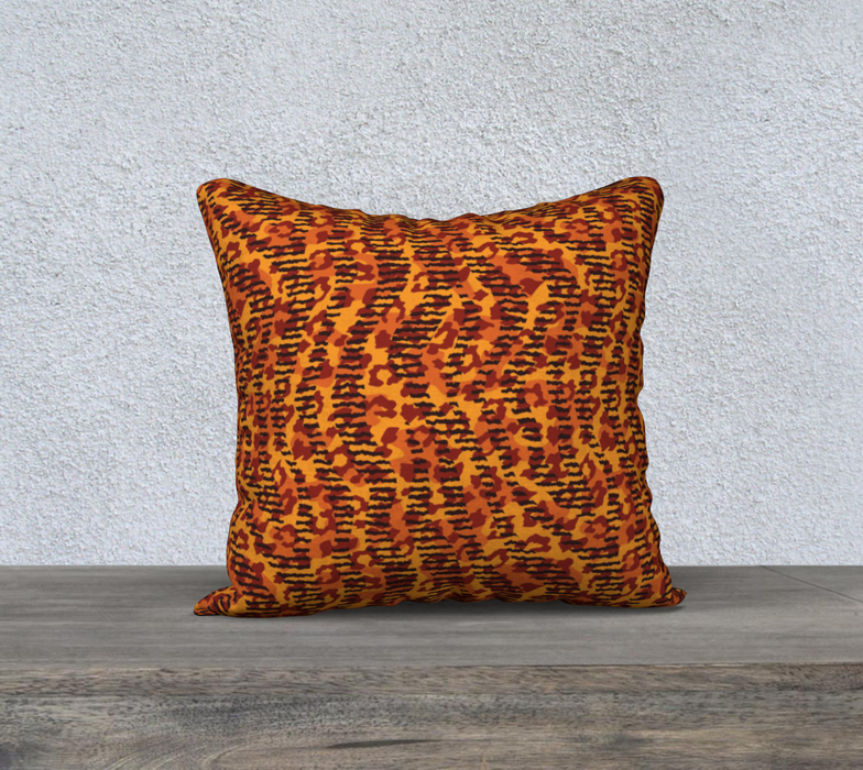 "Animal Stripes and Spots 18"" x 18"" Decorative Pillow Case"