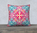 "Pink and Blue Kaleidoscope 22"" x 22""  Decorative Pillow Case"