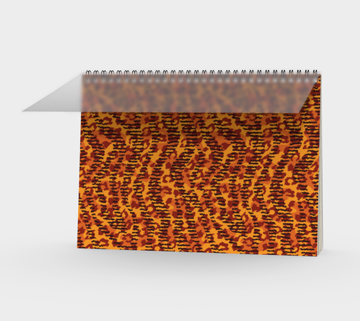 Animal Stripes and Spots Spiral Notebook Landscape