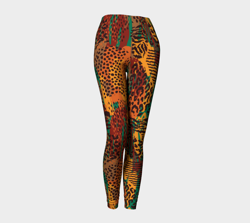 Safari Animal Print Mashup Leggings