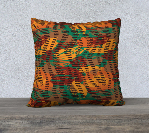 "Abstract Animal Stripes 22"" x 22"" Decorative Pillow Case"