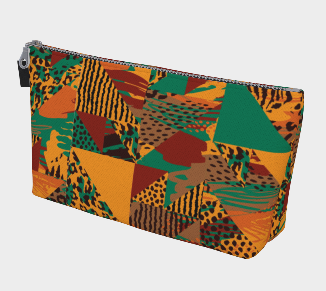 Abstract Safari Print Makeup Bag