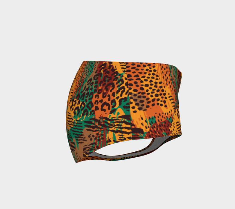 Safari Animal Print Mashup Mini Shorts