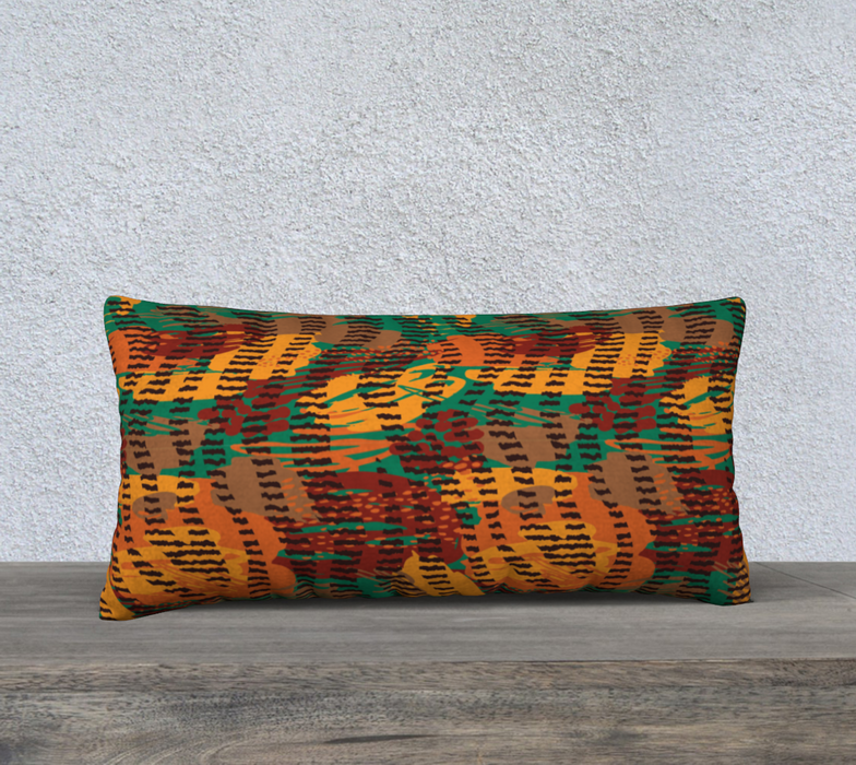 "Abstract Animal Stripes 24"" x 12"" Decorative Pillow Case"