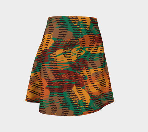 Abstract Animal Stripes Flare Skirt