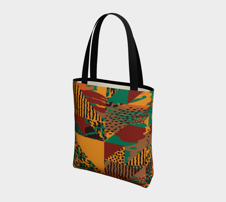 Abstract Safari Print Tote Bag