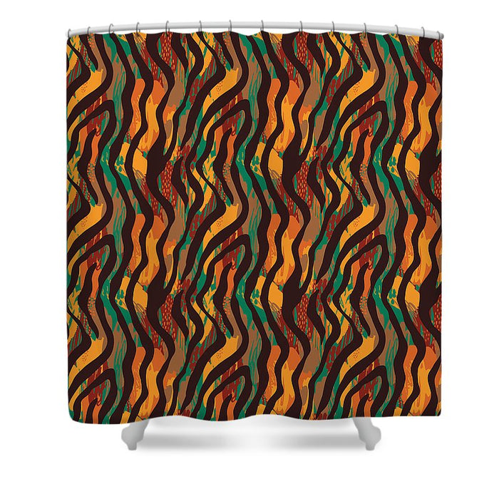 Colorful Animal Stripe Print - Shower Curtain