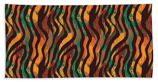 Colorful Animal Stripe Print - Beach Towel