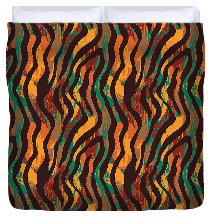 Colorful Animal Stripe Print - Duvet Cover