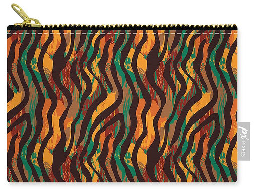Colorful Animal Stripe Print - Carry-All Pouch
