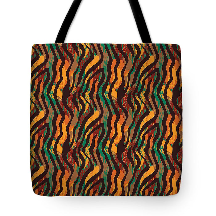 Colorful Animal Stripe Print - Tote Bag