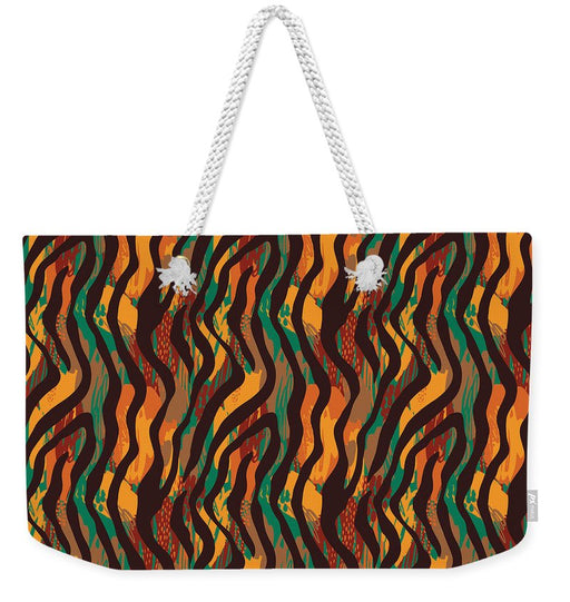 Colorful Animal Stripe Print - Weekender Tote Bag