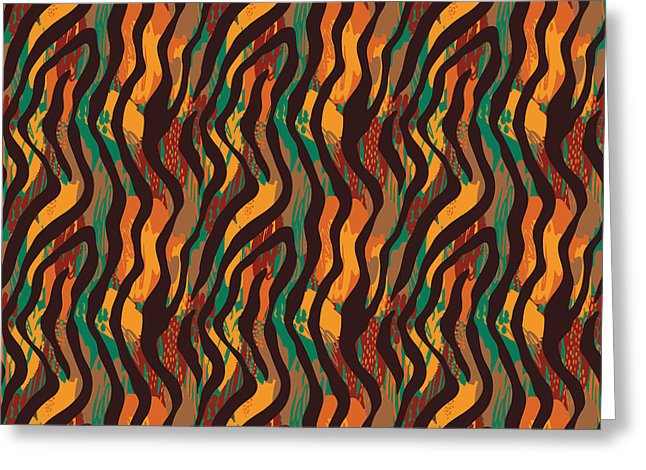 Colorful Animal Stripe Print - Greeting Card