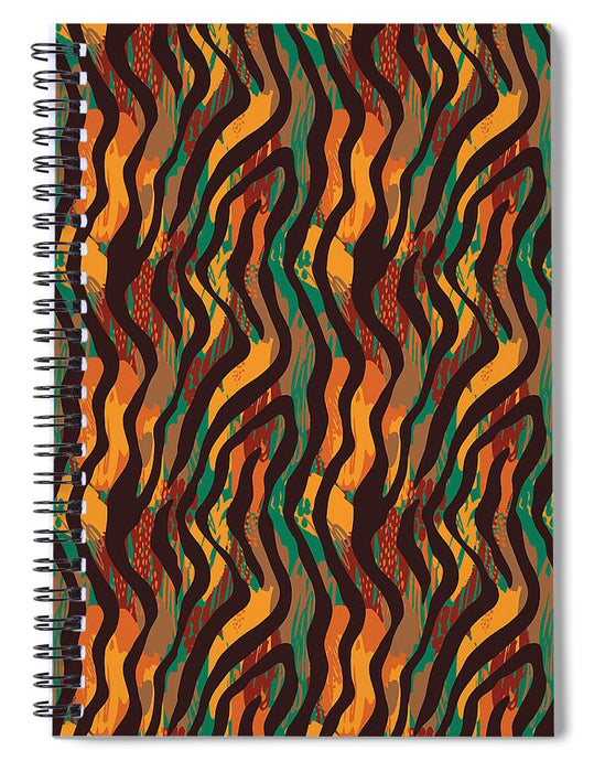 Colorful Animal Stripe Print - Spiral Notebook