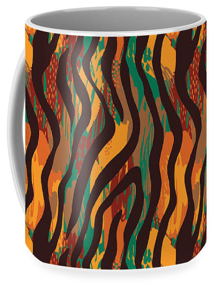 Colorful Animal Stripe Print - Mug