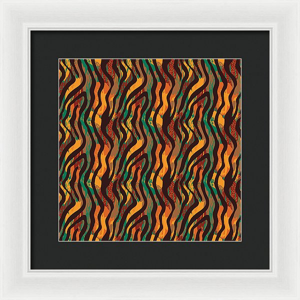 Colorful Animal Stripe Print - Framed Print