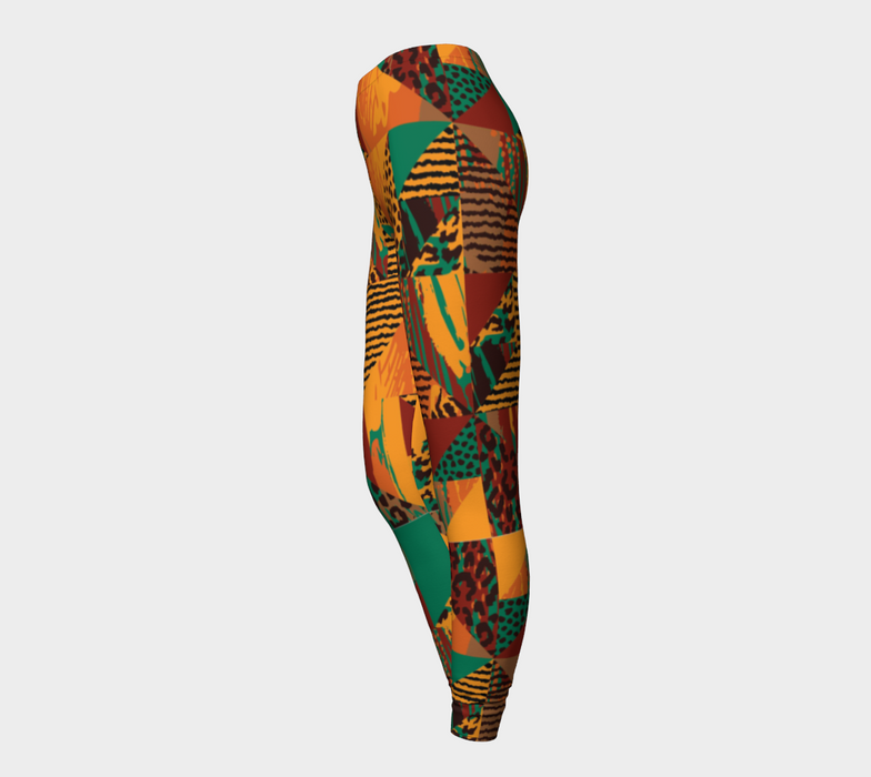 Abstract Safari Print Leggings