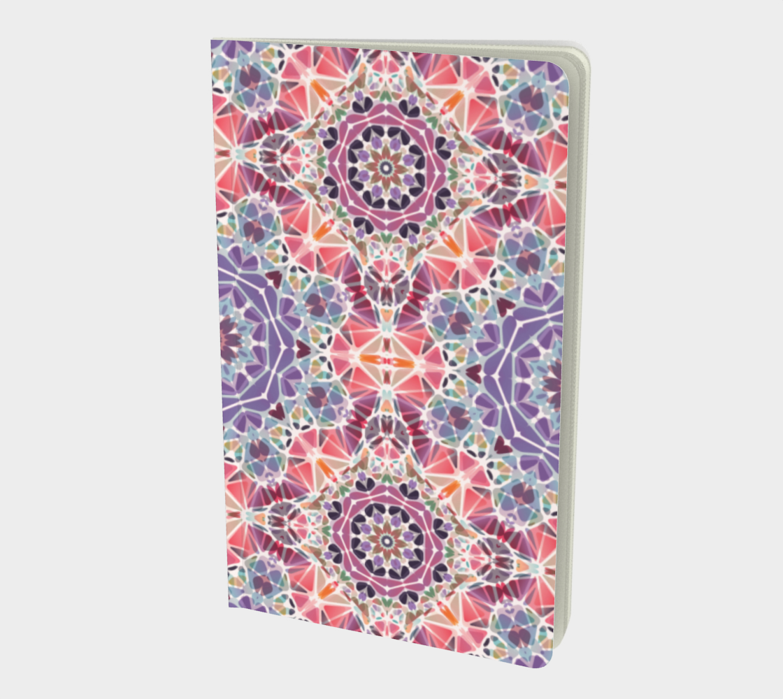Purple and Pink Kaleidoscope Notebook - Small