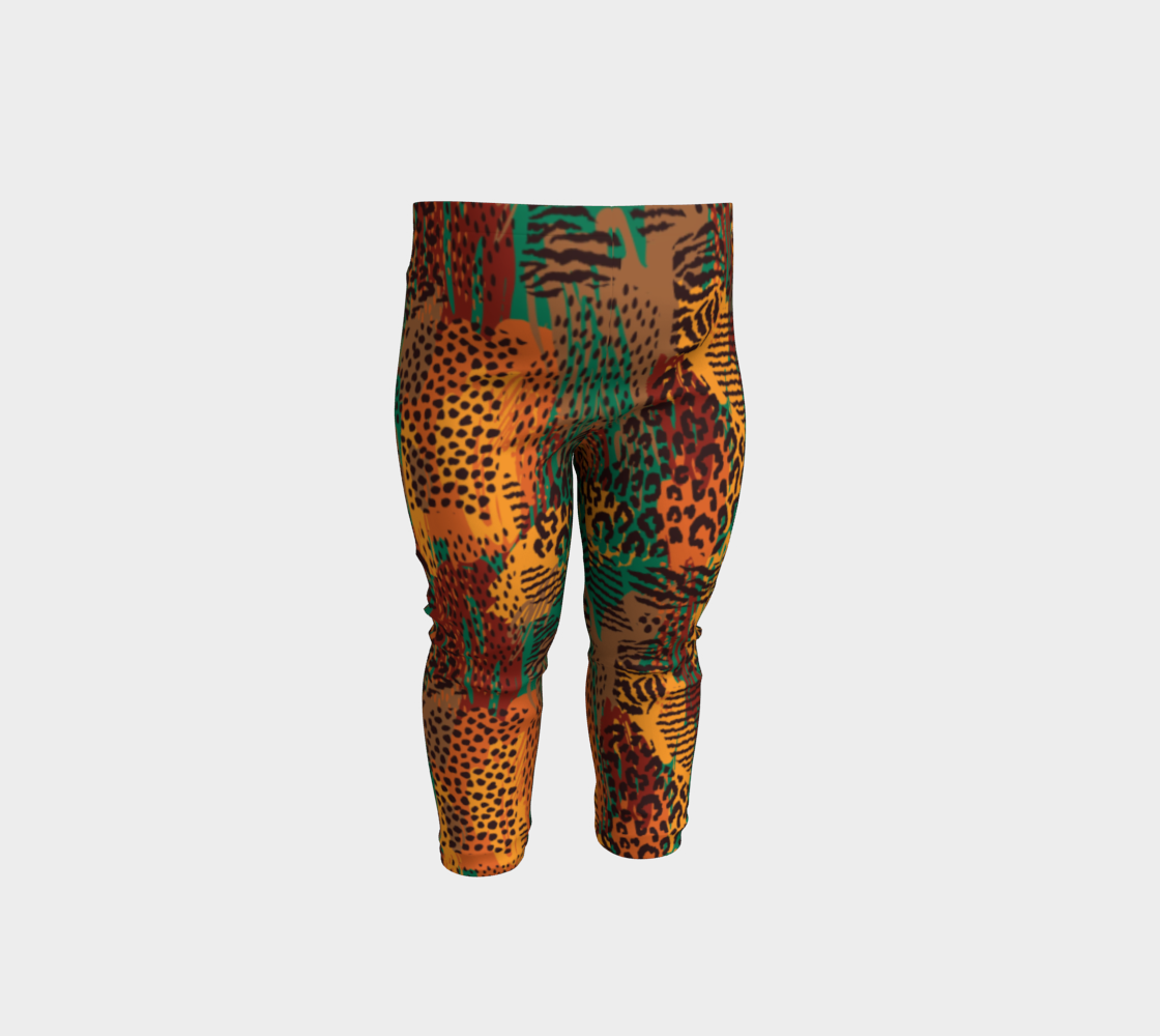 Safari Animal Print Mashup Baby Leggings