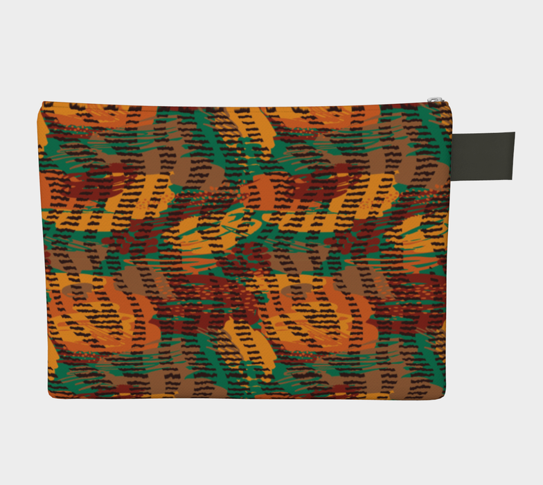 Abstract Animal Stripes Zipper Carry-All