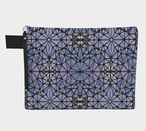 Purple and Blue Kaleidoscope Zipper Carry-All