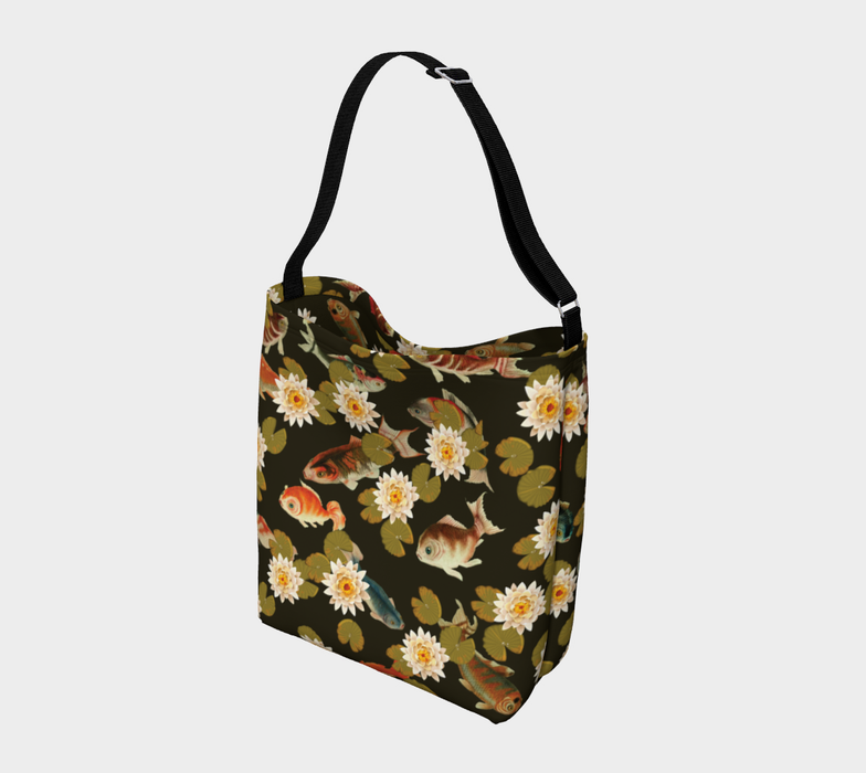 Koi & Lily Pads in Dark Water - Day Tote