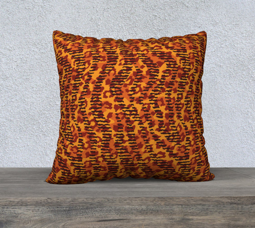 "Animal Stripes and Spots 22"" x 22"" Decorative Pillow Case"