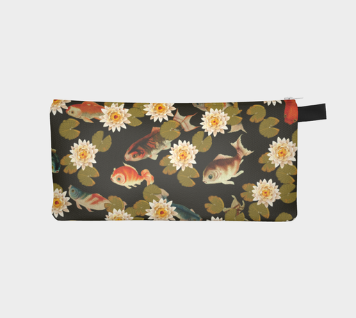 Koi & Lily Pads in Dark Water - Pencil Case