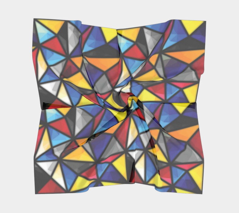 Triangular Mosaic Pattern Square Scarf