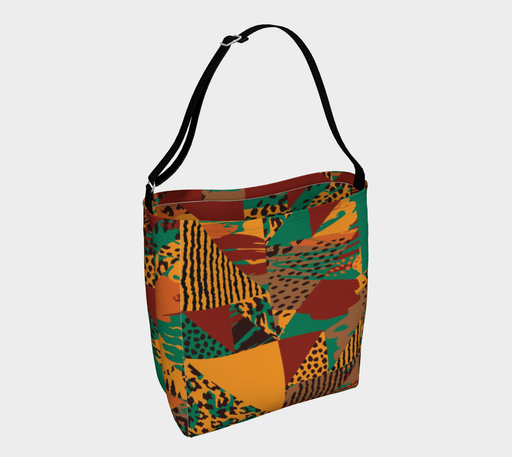 Abstract Safari Print Day Tote