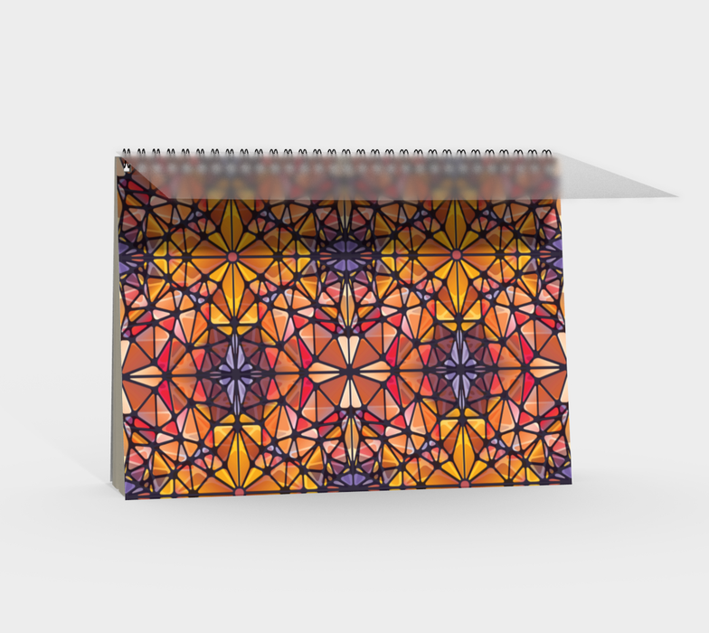 Amber Kaleidoscope Spiral Notebook