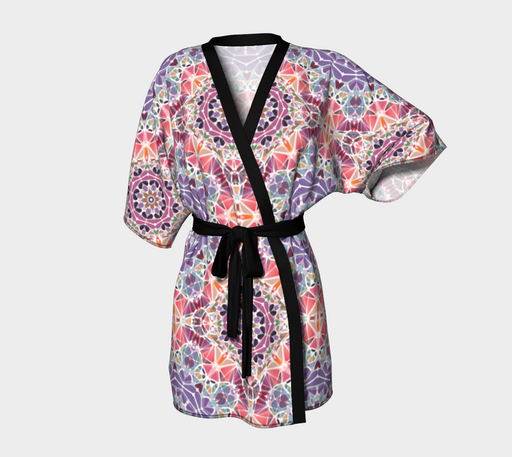 Purple and Pink Kaleidoscope Kimono Robe