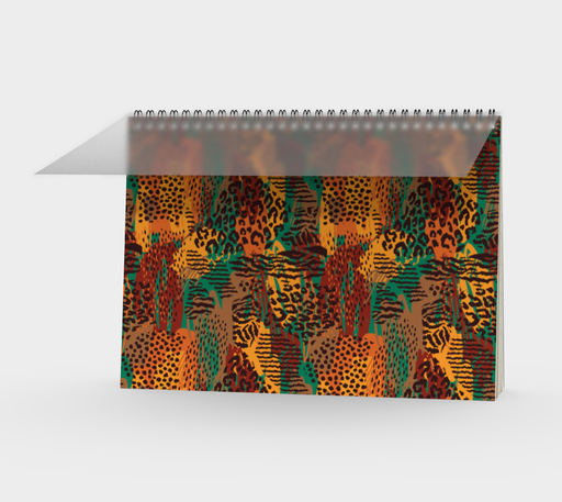 Safari Animal Print Mashup Spiral Notebook
