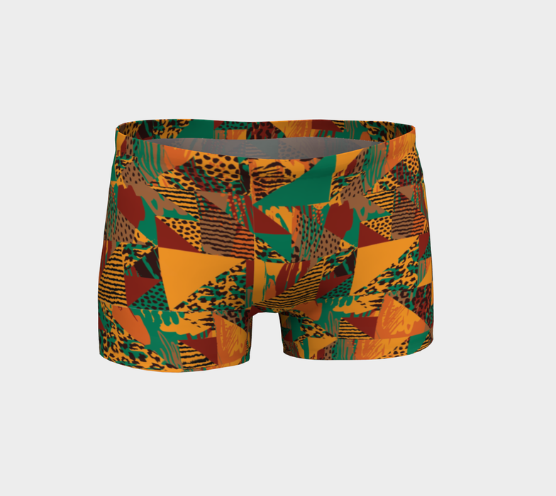 Abstract Safari Print Shorts