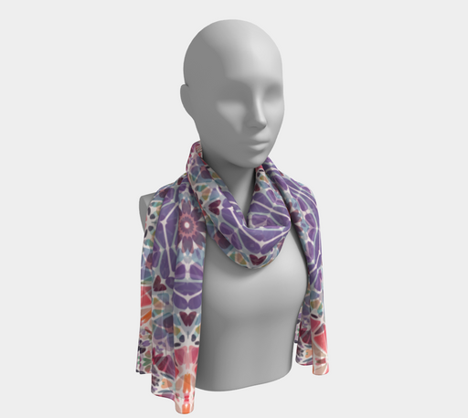 Purple & Pink Kaleidoscope Long Scarf