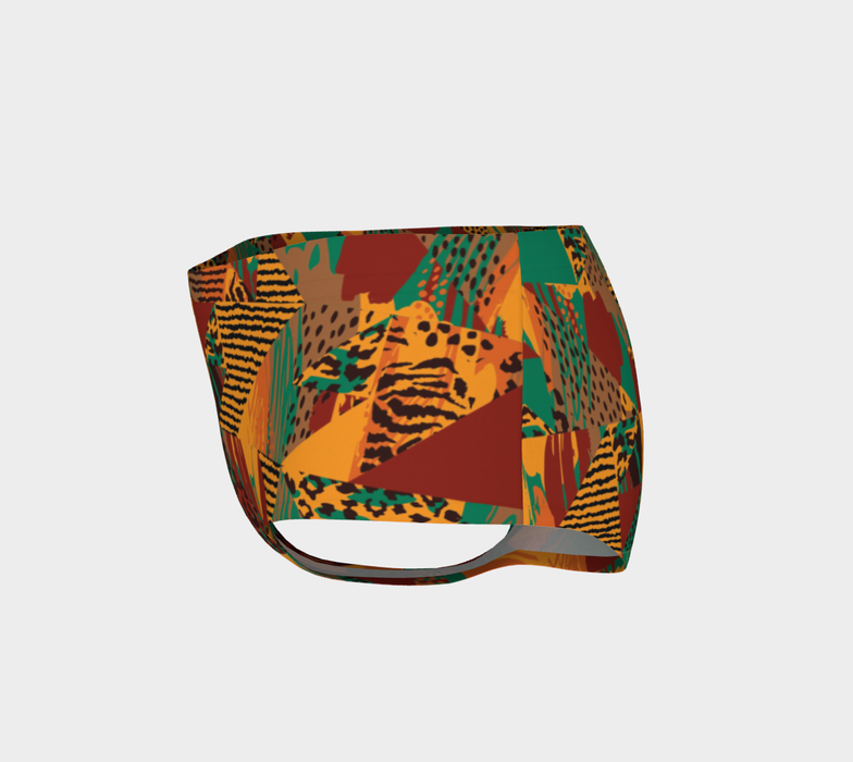 Abstract Safari Print Mini Shorts
