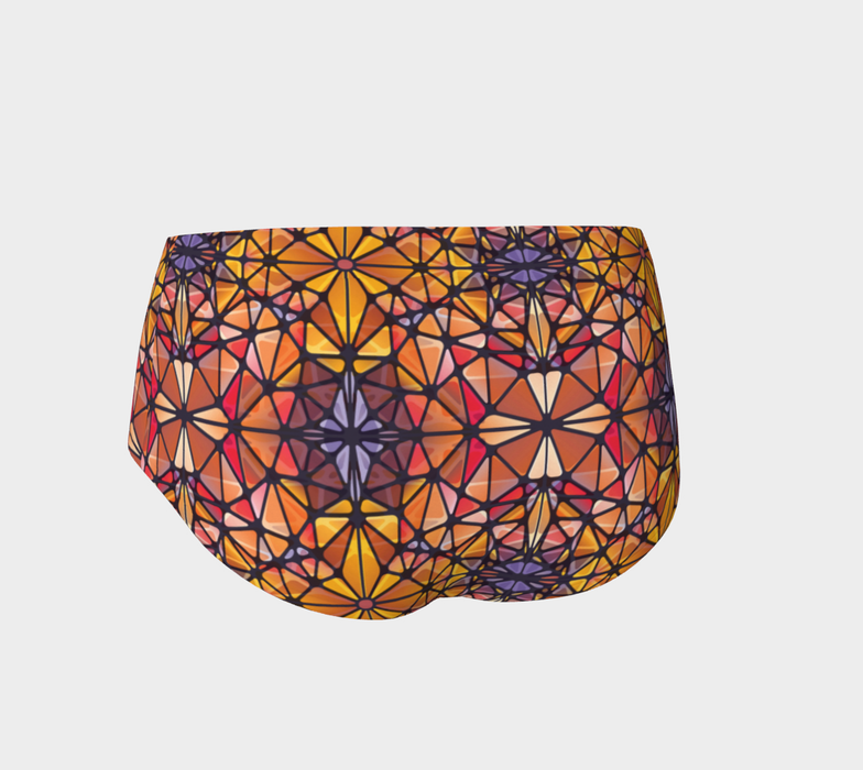 Amber Kaleidoscope Mini Shorts