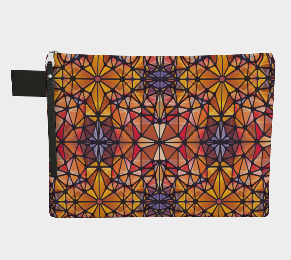 Amber Kaleidoscope Zipper Carry-All