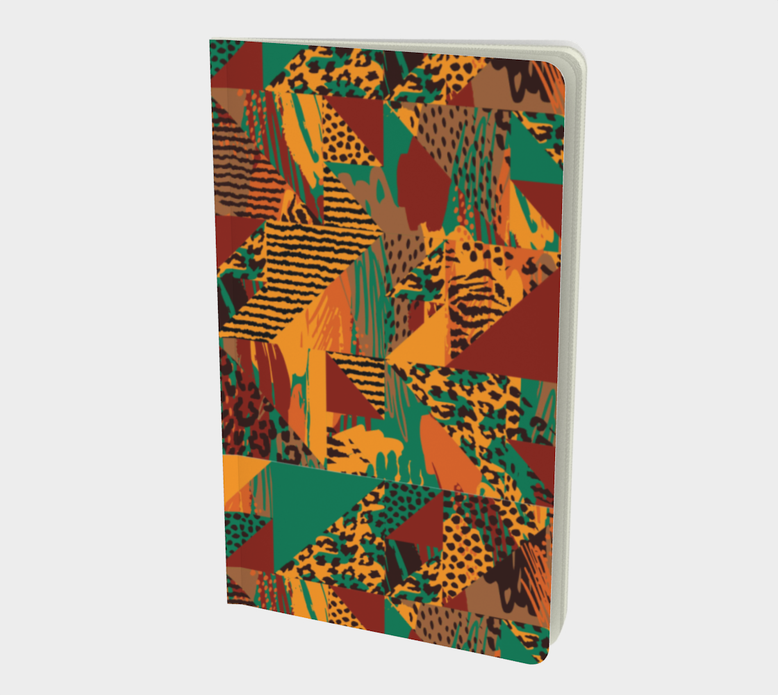 Abstract Safari Print Small Notebook