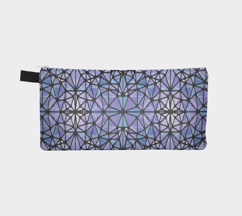 Purple and Blue Kaleidoscope Pencil Case