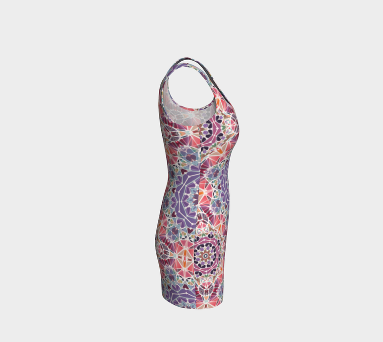 Purple and Pink Kaleidoscope Bodycon Dress