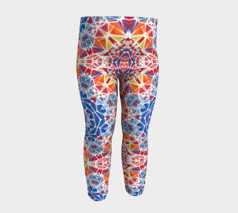 Blue and Orange Kaleidoscope Baby Leggings