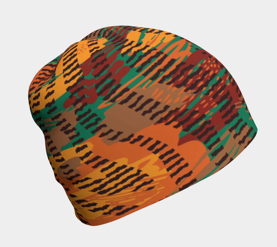 Abstract Animal Stripes Beanie