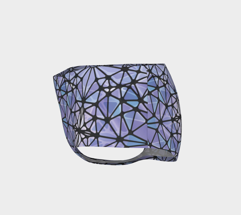 Purple and Blue Kaleidoscope Mini Shorts