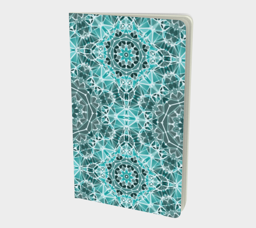 Turquoise & Gray Kaleidoscope Notebook - Small