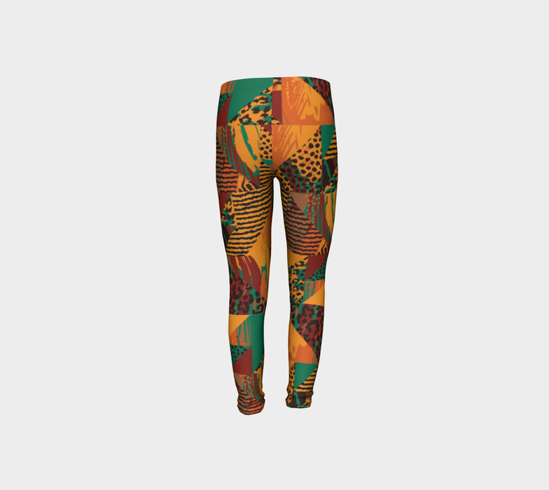 Abstract Safari Print Youth Leggings