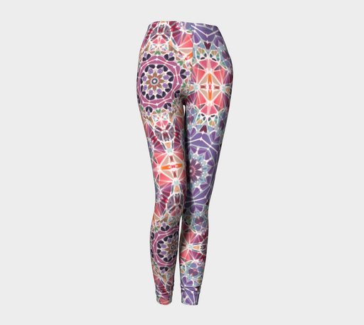 Purple and Pink Kaleidoscope Leggings