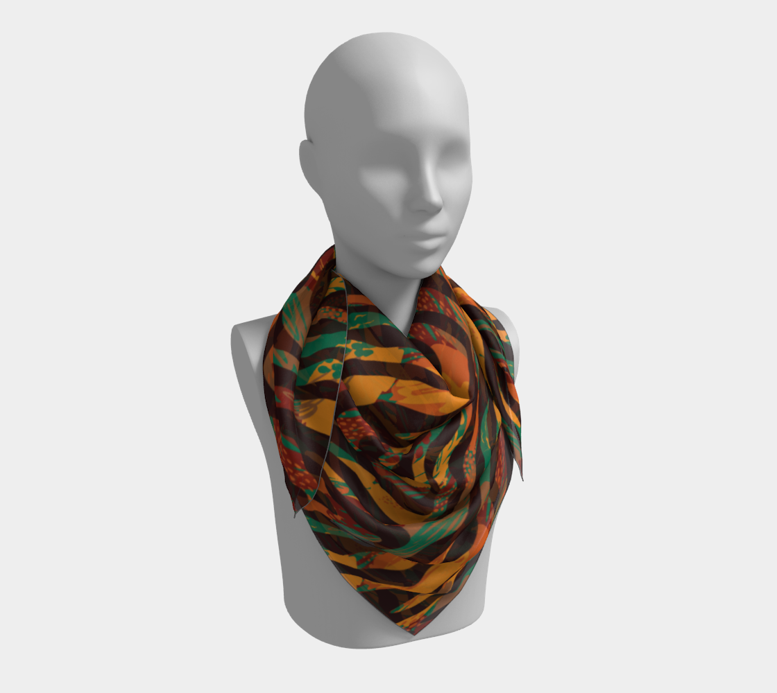 Colorful Animal Stripes Square Scarf