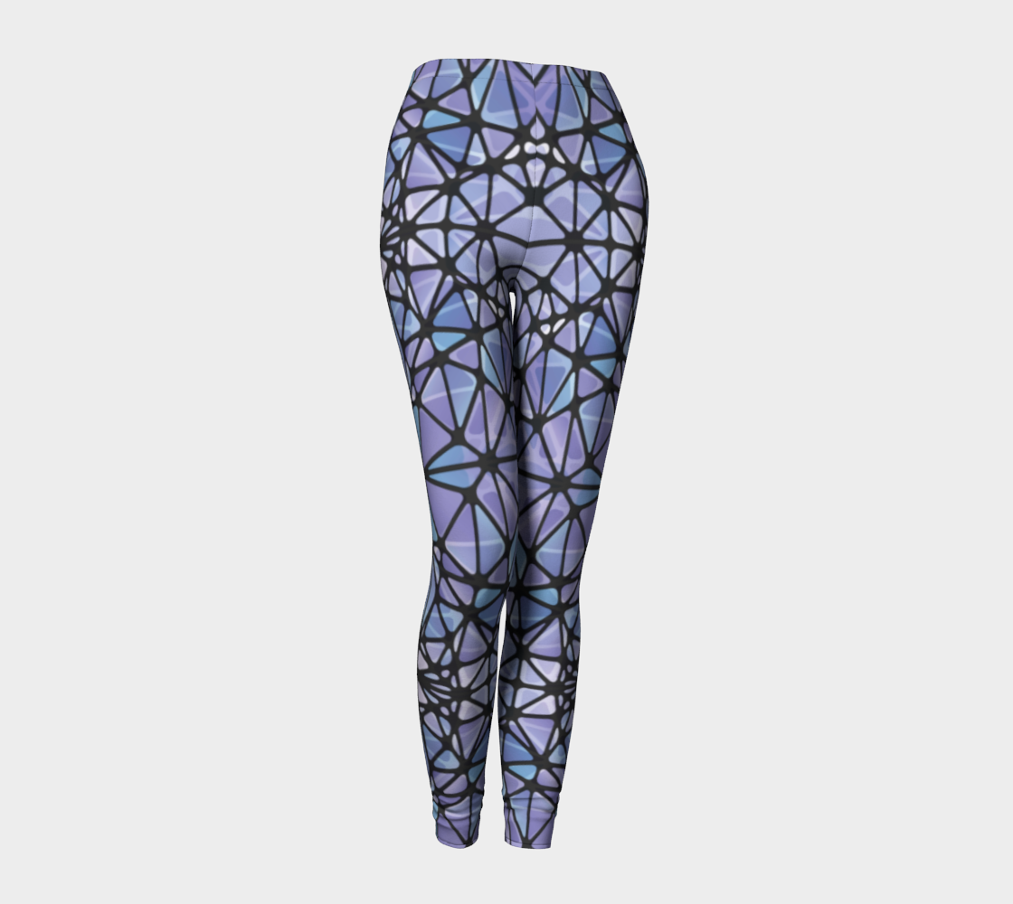 Purple and Blue Kaleidoscope Leggings
